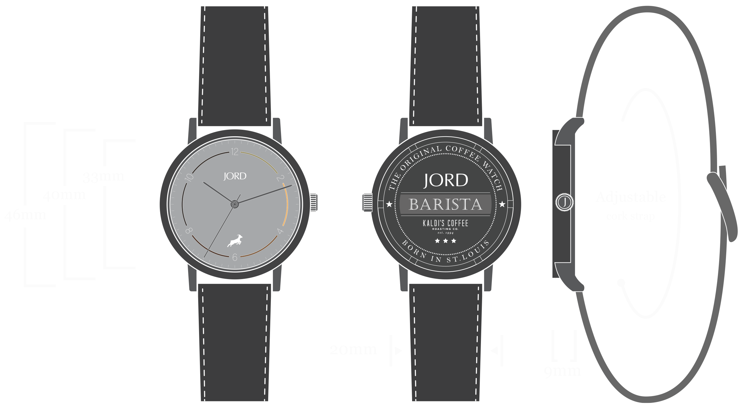 Barista - Kaldis Edition Watch Diagram