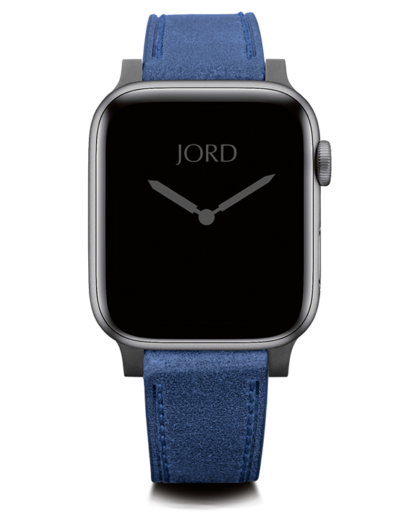 Blue apple watch leather strap