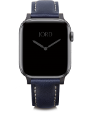 Apple Watch Band - Deep Navy Padded Leather