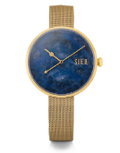 Arcadia - Gold & Sodalite Wood Watch by JORD