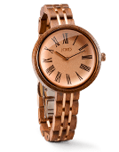 Cassia - Walnut & Vintage Rose Wood Watch by JORD