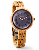 Cassia - Olive & Aegean Blue Wood Watch by JORD