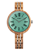 Cassia - Olivewood & Ocean Blue Wood Watch by JORD