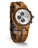 Conway - Zebrawood & Dark Sandalwood Wood Watch by JORD