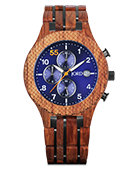 Conway - Kosso & Midnight Blue Wood Watch by JORD
