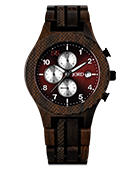 Conway - Dark Sandalwood & Burgundy Wood Watch by JORD