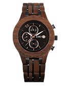 Conway - Walnut & Jet Black Wood Watch by JORD