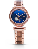 Cora Polaris - Walnut & Blue Wood Watch by JORD