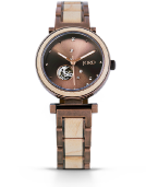 Cora Polaris - Maple & Vintage Bronze Wood Watch by JORD