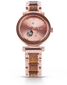 Cora Polaris - Koa & Rose Gold Wood Watch by JORD