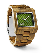 Delmar - Green Sandalwood & Green Carbon Wood Watch by JORD