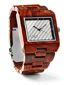 Delmar - Red Sandalwood & White Carbon Wood Watch by JORD