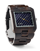 Delmar - Dark Sandalwood & Blue Carbon Wood Watch by JORD
