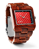 Delmar - Red Sandalwood & Red Carbon Wood Watch by JORD
