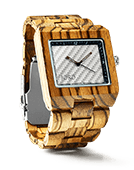 Delmar - Zebrawood & White Carbon Wood Watch by JORD