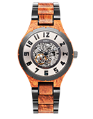 Dover II - Kosso & Gunmetal Wood Watch by JORD