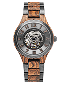 Dover II - Bocote & Vintage Gunmetal Wood Watch by JORD