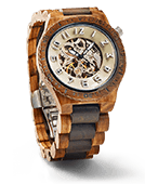 Dover - Zebrawood & Dark Sandalwood Wood Watch by JORD
