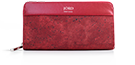 Eila - Eros Red & Silver Zippered Wallet