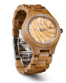 Fieldcrest - Koa & Burl Wood Watch by JORD