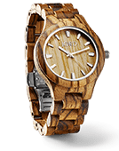 Fieldcrest - Zebrawood & Maple Wood Watch by JORD