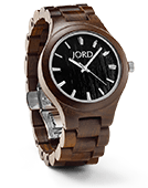 Fieldcrest - Dark Sandalwood Wood Watch by JORD