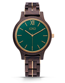 Frankie II - Dark Sandalwood & Emerald Wood Watch by JORD
