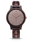 Frankie II - Dark Sandalwood & Smoke Wood Watch by JORD