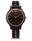 Frankie II - Ebony & Gold Wood Watch by JORD