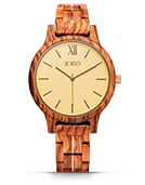 Frankie II - Zebrawood & Champagne Wood Watch by JORD
