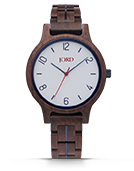 Frankie II - Leadwood & White Wood Watch by JORD