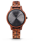 Frankie II - Kosso & Steel Wood Watch by JORD