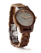 Frankie 35 - Dark Sandalwood & Slate Wood Watch by JORD