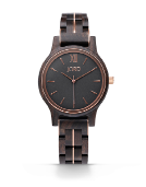 Frankie 38 - Dark Sandalwood & Espresso Wood Watch by JORD