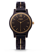 Frankie 38 - Ebony & Gold Wood Watch by JORD