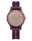 Frankie 38 - Purpleheart & Lavender Wood Watch by JORD