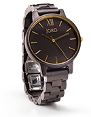 Frankie - Ebony & Gold Wood Watch by JORD