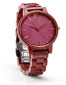 Frankie - Purpleheart & Plum Wood Watch by JORD