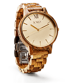 Frankie - Zebrawood & Champagne Wood Watch by JORD