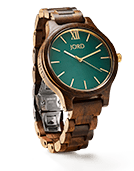 Frankie - Dark Sandalwood & Emerald Wood Watch by JORD