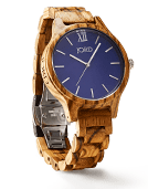 Frankie - Zebrawood & Navy Wood Watch by JORD