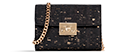 Haifa - Textured Black & Gold Small Crossbody