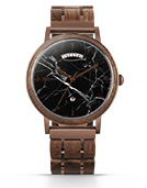 Harper - Black Marquina Marble & Walnut Wood Watch by JORD