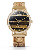 Harper - Tiger's Eye & Olive Wood Wood Watch by JORD