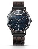 Harper - Blue Tiger's Eye & Ebony Wood Watch by JORD