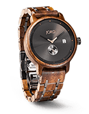 Hyde - Walnut & Black Wood Watch by JORD