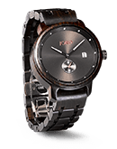 Hyde - Ebony & Iron Wood Watch by JORD