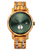 Hyde - Olive & Forest Green Wood Watch by JORD