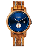 Hyde - Kosso & Zaffre Blue Wood Watch by JORD