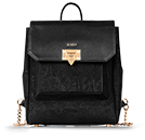 Maiken - Shadow Black & Gold Envelope BackPack
